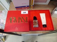 605 Armani Si Passione eau de parfum and body lotion gift box set