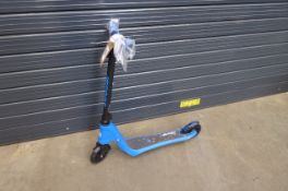 Small blue scooter