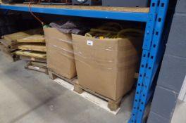 4 wooden boxes of Hozelock expandable hoses (loose)