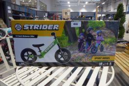 Strider boxed balance bike