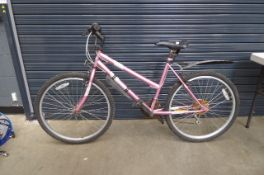 Pink ladies mountain bike Height: 30inch. Frame size 30 inches.