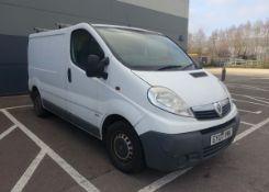 EY07 YMK (2007) Vauxhall Vivaro van, diesel in white MOT: None Note: Issues with turbo/loss of