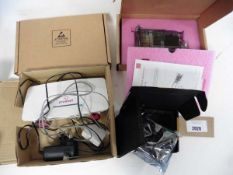 Bag with Plusnet Hub one router, Ender 5 plus silent mainboard & 2 boxed Check Point appliance