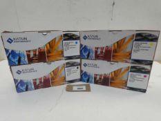 4 packs of printer toner cartridges, black, cayan, magenta and yellow for Kyocera