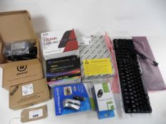 Various computing parts, Cooling RGB fan, Cooling case fan, EXP GDC laptop external graphics adapter
