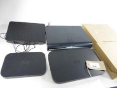 Bag of 6 assorted Sky boxes/broadband routers