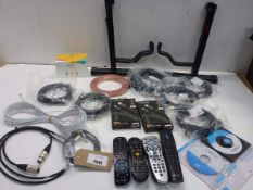 Guitar stands, remote controls, wireless charger, Lightening and other cabling etc