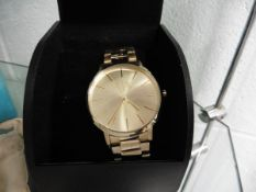 Armani exchange stainless steel strap wristwatch with box
