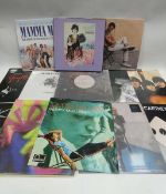 Box of LP and 45 records to include The Beatles, Paul McCartney, Matt Beringer, Chamomile and others