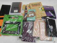 Bag containing various tablet cases/covers
