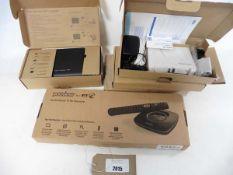 3 Sagecom Plusnet 2704N routers, 1 Talktalk home gateway pack & 1 BT Youview pack