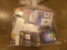 Bag containing miscellaneous electrical related items and accessories