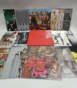 Box of LP records to include The Beatles, Madonna, Fleetwood Mac, Elvis and others