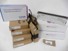 2 Sky Broadband routers, Talktalk Broadband & 5 Plusnet 2704 routers