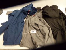 3 mixed style Kirkland jackets in various sizes