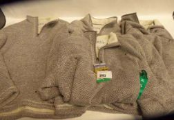 4 Mens Orvis quarter zipped fleeces, 3 untagged and 1 tagged. All contain pulls in material. Sizes