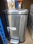 3 unboxed mini stainless steel pedal bins