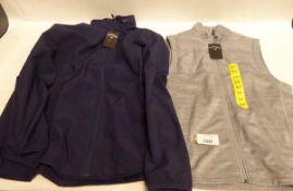 Mens Callaway golf body warmer, size S. Mens Callaway golf full zipped hooded coat, size L