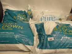 4 packs of soft down bedding pillows