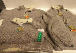 4 Mens Orvis quarter zipped fleeces in XXL, XL, XL and XXL. All contain pulls in fleece