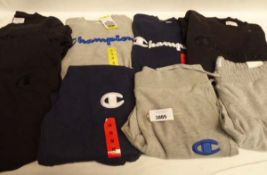 Selection of 8 items of Champion clothing, some used