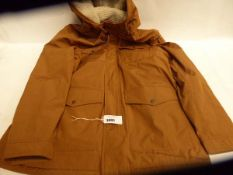Full zipped hooded mens Levis coat, size XL and untagged