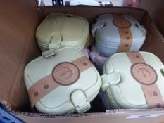 Box containing quantity of Husky home travel lunch boxes