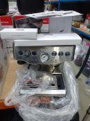 (64) Sage Barrister Express coffee machine in box