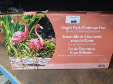 Box of 2 bright pink flamingos