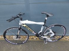 Gents black and yellow Extreme Shimano geared road bike