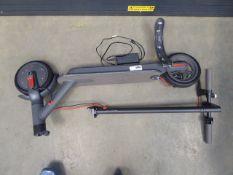 Grey electric scooter (broken handlebars, broken mudguard)