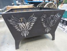 Boxed steel fire pit