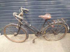 Black vintage ladies bike