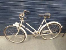 Beige vintage ladies bike