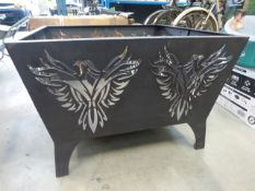 Unboxed steel fire pit