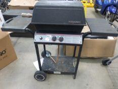 Black Sterling 2 burner gas barbecue