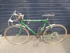Halfords green racing bike