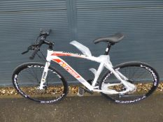 White and red Extreme Shimano geared road bike