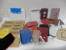 Large bag of Tablet cases, glass protectors & replacement screen