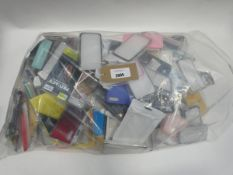 Bag containing quantity of mobile phone covers and cases