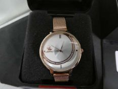G Sport Polo wristwatch with rose gold finish coloured strap and case