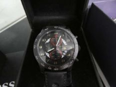 DS Techeetah chronograph wristwatch with black rubber strap and case