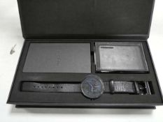 Greyhours Essential watch with leather strap and sapphire crystal glass in box