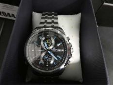 Casio Edifice stainless steel strap gents wristwatch with box and paperwork