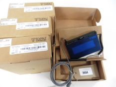 bag of 4 Topaz Systems Siglite 1x5 Usb digital signaturecapture pads in boxes