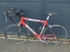 Primo Azzurri red and white racing bike