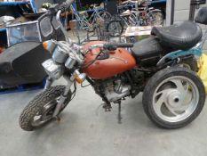 Pioneer 2008 124cc motorbike in parts