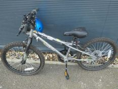 Small grey childs bike