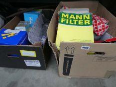 2 boxes of car parts