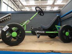 Green and black 4 wheel pedal go kart